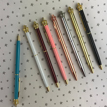 Load image into Gallery viewer, Diamante Crown Top Ballpoint Pen-4-The Persnickety Co