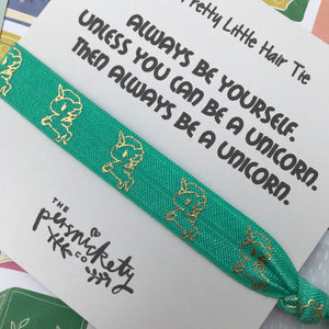Always Be A Unicorn Hair Tie-10-The Persnickety Co