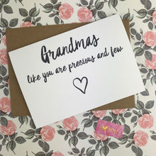 Load image into Gallery viewer, Mother's Day Card Grandmas Like You Are Precious And Few-2-The Persnickety Co
