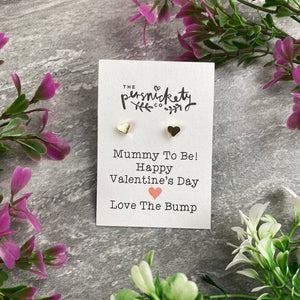 Mummy To Be Happy Valentine's Day Earrings-5-The Persnickety Co