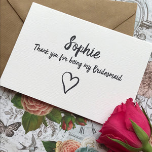 Personalised Thank You For Being My Bridesmaid-10-The Persnickety Co