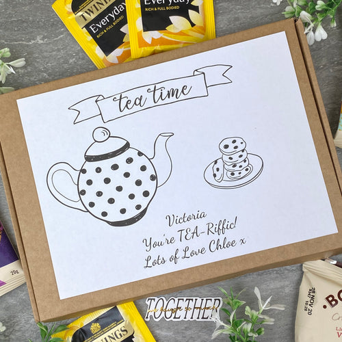 You're TEA-Riffic Personalised Tea and Biscuit Box-The Persnickety Co