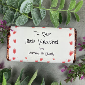 To Our Little Valentine Chocolate Bar