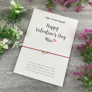 Happy Valentine's Day Personalised Wish Bracelet-8-The Persnickety Co