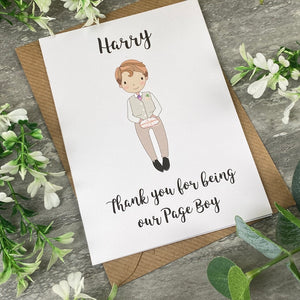 Thank You For Being Our Pageboy Card-7-The Persnickety Co