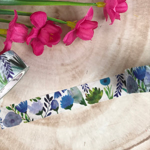 Blue Floral Washi Tape-6-The Persnickety Co