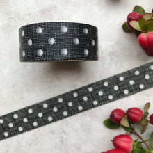 Load image into Gallery viewer, Black and White Polka Dot Washi Tape-4-The Persnickety Co