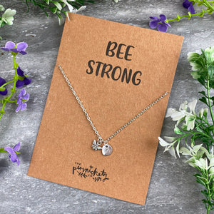 Bee Strong Necklace-9-The Persnickety Co