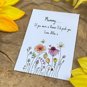 Mummy If You Were A Flower Mini Kraft Envelope with Wildflower Seeds-5-The Persnickety Co