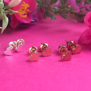 A Mother Is Your First Friend - Heart Earrings - Gold / Rose Gold / Silver-7-The Persnickety Co
