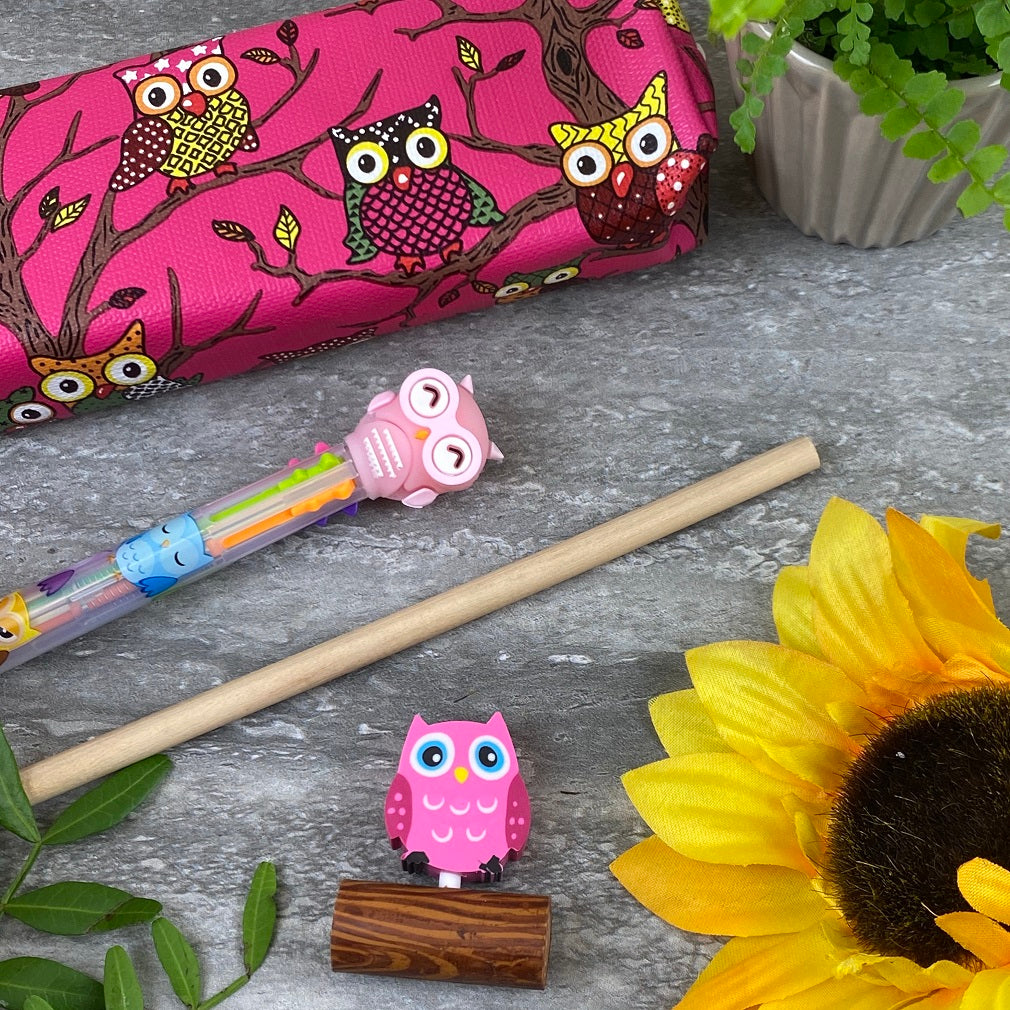 Owl Stationery Set - Pink-The Persnickety Co