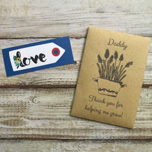 Load image into Gallery viewer, Daddy/ Grandad Thank You For Helping Me Grow! Mini Kraft Envelope with Wildflower Seeds-The Persnickety Co