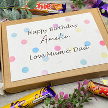 Load image into Gallery viewer, Personalised Birthday Chocolate Gift Box-10-The Persnickety Co