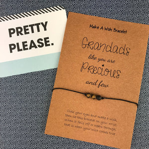 Grandads Like You Are Precious And Few Wish Bracelet-4-The Persnickety Co