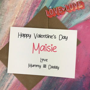 Personalised Happy Valentine's Day From Mummy And Daddy Card-4-The Persnickety Co
