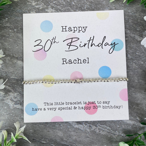 Happy 30th Birthday Beaded Bracelet-The Persnickety Co
