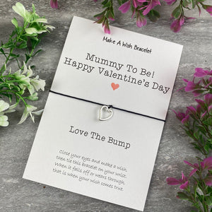 Mummy To Be Happy Valentine's Day Wish Bracelet-The Persnickety Co