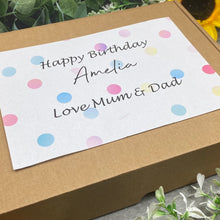 Load image into Gallery viewer, Happy Birthday Personalised Sweet Box-4-The Persnickety Co