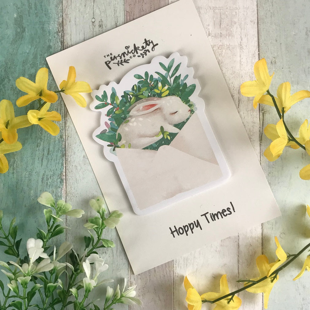 Cute Bunny Sticky Notes-The Persnickety Co