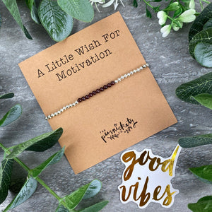 A Little Wish For Motivation - Beaded Bracelet-8-The Persnickety Co