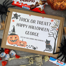 Load image into Gallery viewer, Trick Or Treat? Personalised Halloween Kinder Bueno Box-9-The Persnickety Co
