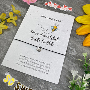 Bride To Bee Wish Bracelet On Plantable Seed Card-5-The Persnickety Co