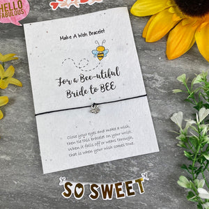 Bride To Bee Wish Bracelet On Plantable Seed Card-9-The Persnickety Co