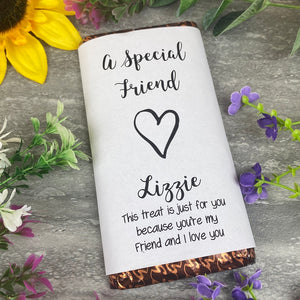 A Special Friend Chocolate Bar
