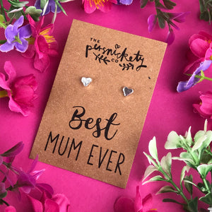 Best Mum Ever - Heart Earrings - Gold / Rose Gold / Silver-8-The Persnickety Co