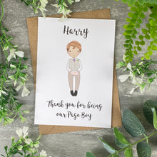 Load image into Gallery viewer, Thank You For Being Our Pageboy Card-The Persnickety Co