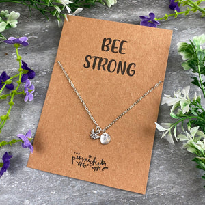 Bee Strong Necklace-7-The Persnickety Co