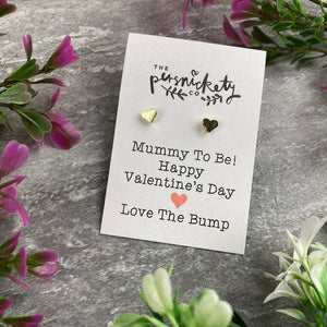 Mummy To Be Happy Valentine's Day Earrings-6-The Persnickety Co