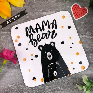 Cute Mama Bear Coaster-The Persnickety Co