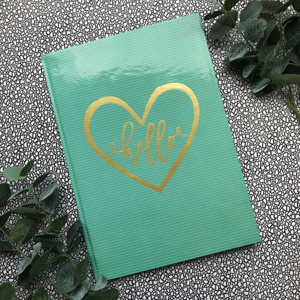 A4 Hello Notebook-The Persnickety Co