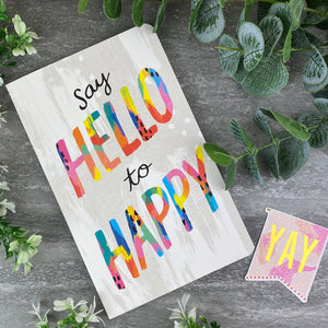 Say Hello to Happy Journal Notebook-6-The Persnickety Co
