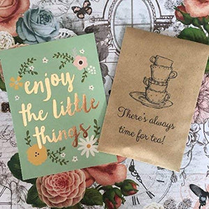 There's Always Time For Tea Mini Kraft Envelope with Tea Bag-4-The Persnickety Co