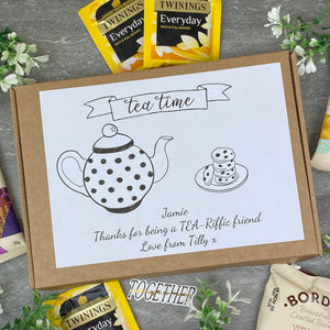 Tea-Riffic Friend Personalised Tea and Biscuit Box-7-The Persnickety Co