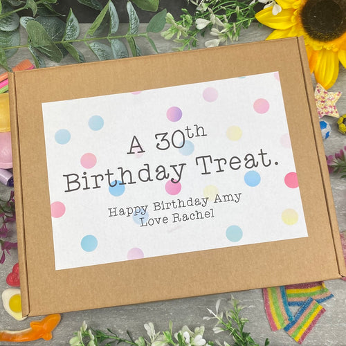 30th Birthday Personalised Sweet Box-The Persnickety Co