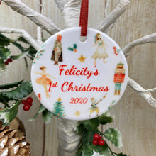 Load image into Gallery viewer, Nutcracker Babies 1st Christmas Hanging Decoration