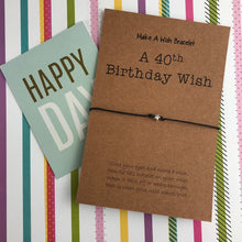 Load image into Gallery viewer, A 40th Birthday Wish - Star-7-The Persnickety Co