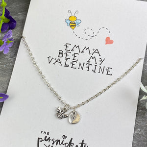 Bee My Valentine Necklace-7-The Persnickety Co