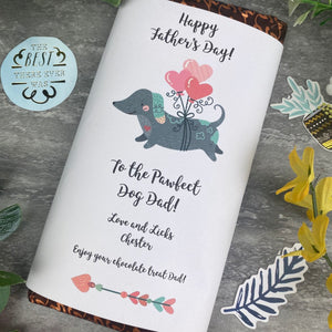 Pawfect Dog Dad Father's Day Chocolate Bar