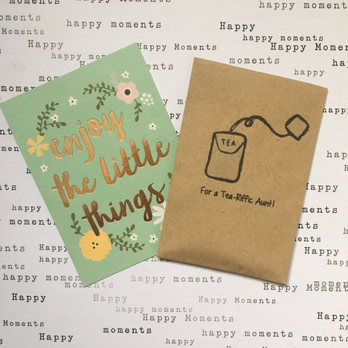 For A Tea-Riffic Aunt Mini Kraft Envelope with Tea Bag-The Persnickety Co