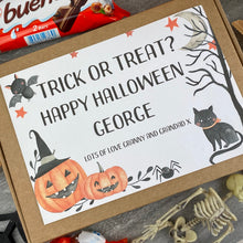 Load image into Gallery viewer, Trick Or Treat Personalised Halloween Kinder Bueno Box