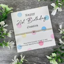 Load image into Gallery viewer, Happy 21st Birthday Beaded Bracelet-10-The Persnickety Co