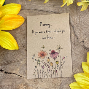 Mummy If You Were A Flower Mini Kraft Envelope with Wildflower Seeds-3-The Persnickety Co