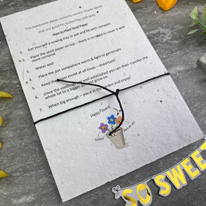 Mummy To Bee Wish Bracelet On Plantable Seed Card-9-The Persnickety Co