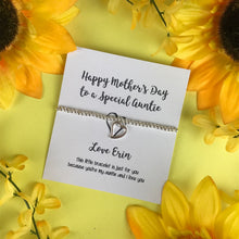 Load image into Gallery viewer, Happy Mother's Day To A Special Auntie Beaded Charm Bracelet-2-The Persnickety Co
