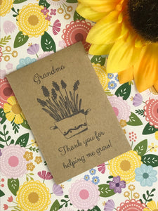 Grandma Thank You For Helping Me Grow Mini Kraft Envelope with Wildflower Seeds-7-The Persnickety Co