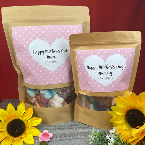 Personalised Mother's Day Sweet Pouches-The Persnickety Co